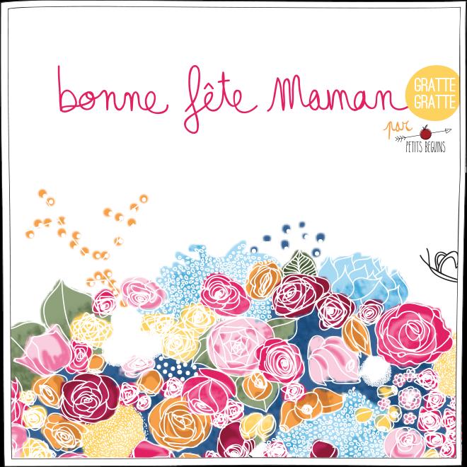 Fête des mères - Carte de voeux - Petits Béguins