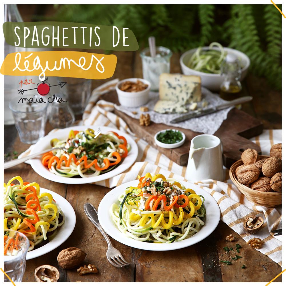 Spaghettis de Légumes - Recette facile - Maïa Chä