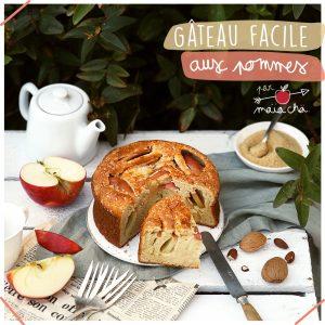 Gâteau facile au yaourt et aux pommes - Recette - Maïa Chä