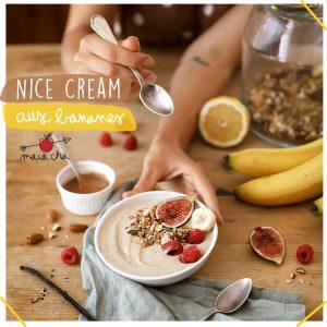Nice Cream banane - Recette Vidéo Maïa Chä - À TABLE - Youtube