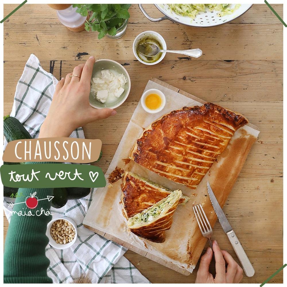 Chausson Tout Vert - Recette en vidéo Veggie - Maïa Chä