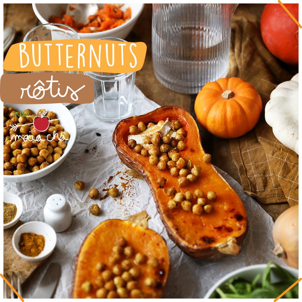 Butternuts rôtis - Recette d'automne - Veggie - Maïa Chä