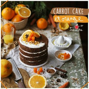 Carrot Cake - Carotte Cake - Sans lactose - Recette - Maïa Chä
