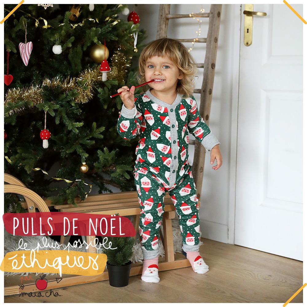 Pull de Noël éthique - 2019 - Petits Béguins - Maïa Chä