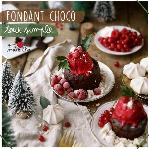 Fondant Chocolat facile - vegan sans gluten - Recette de Noël - Maïa Chä