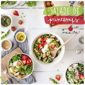 Salade De Printemps - Petits Pois & Fraises - Recette Veggie - Maïa Chä