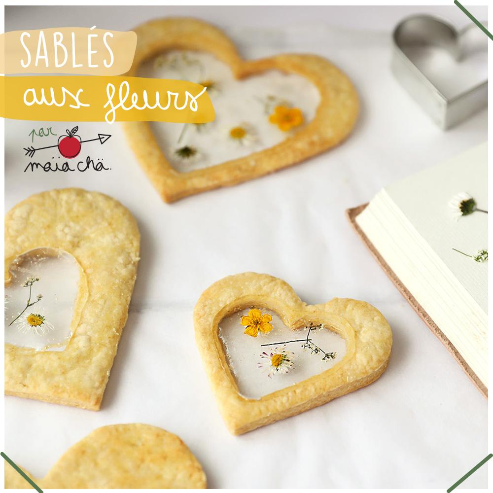 Sablés aux Fleurs - Recette - DIY Fête Des Mères - Maïa Chä