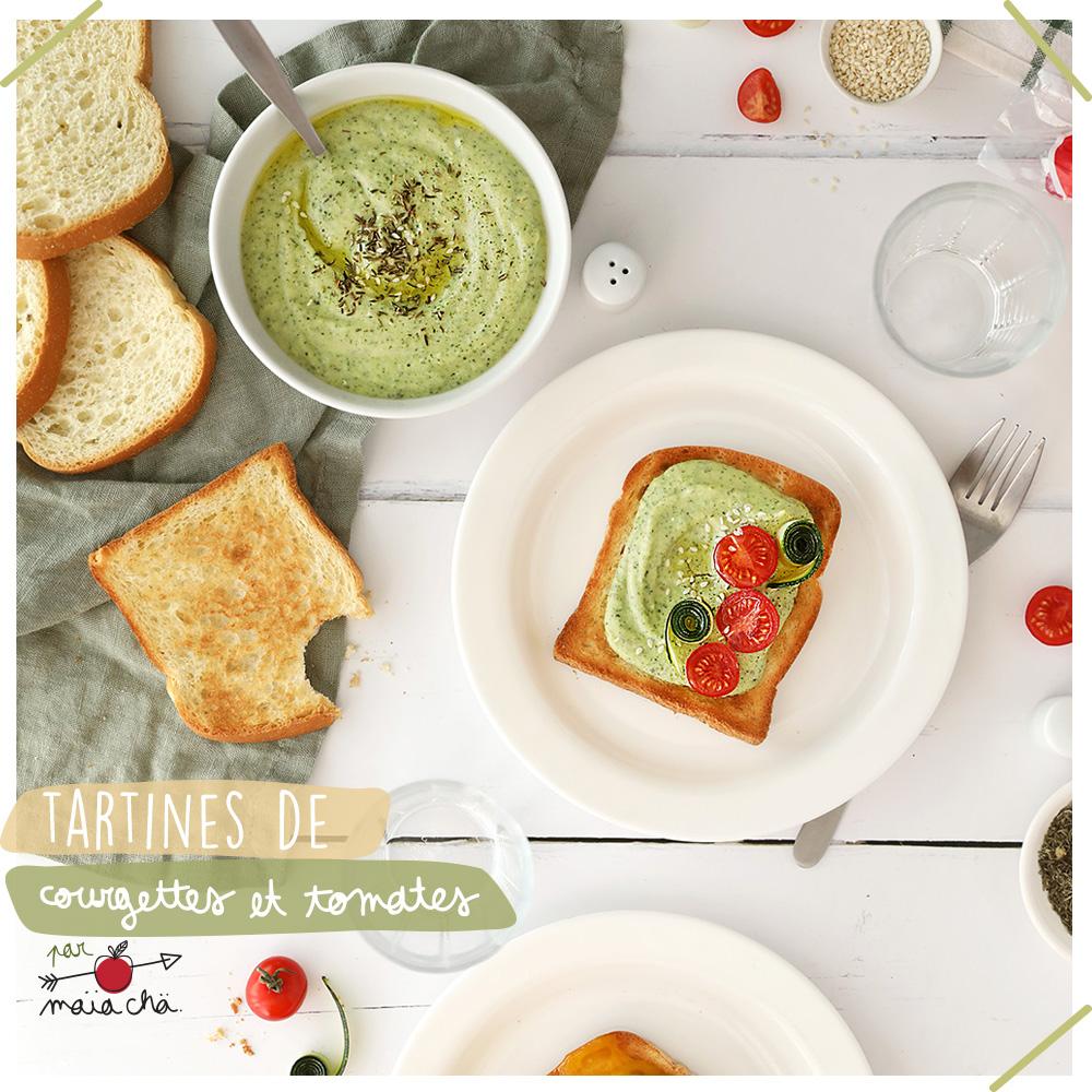 Tartines de Courgettes et Tomates - Recette Faciles - Maïa Chä